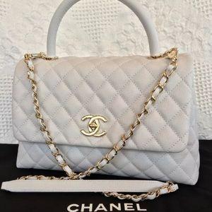 Chanel Coco White Flap Bag